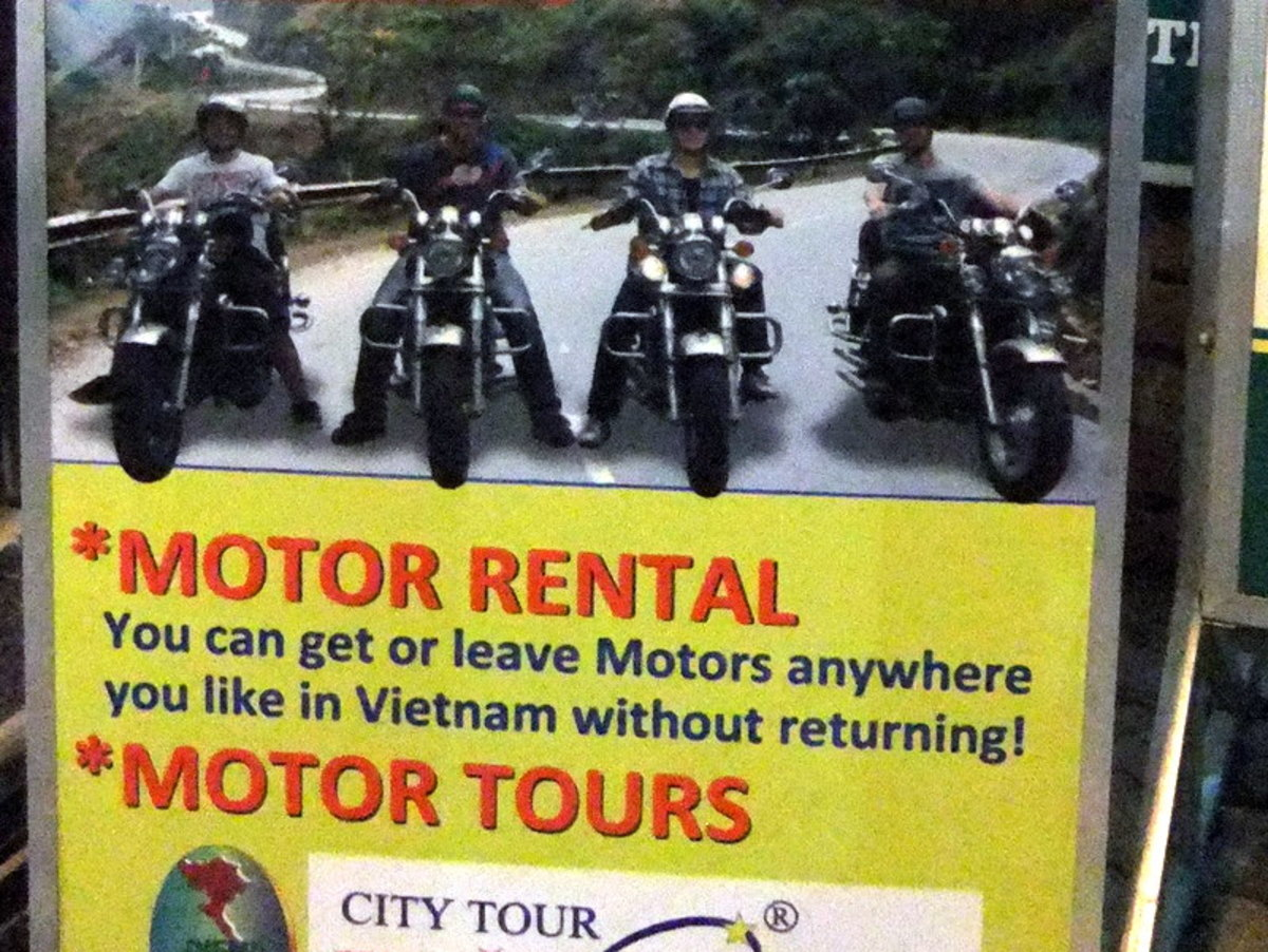 Easy rider, Vietnam style. Is this a funny and humorous signage?