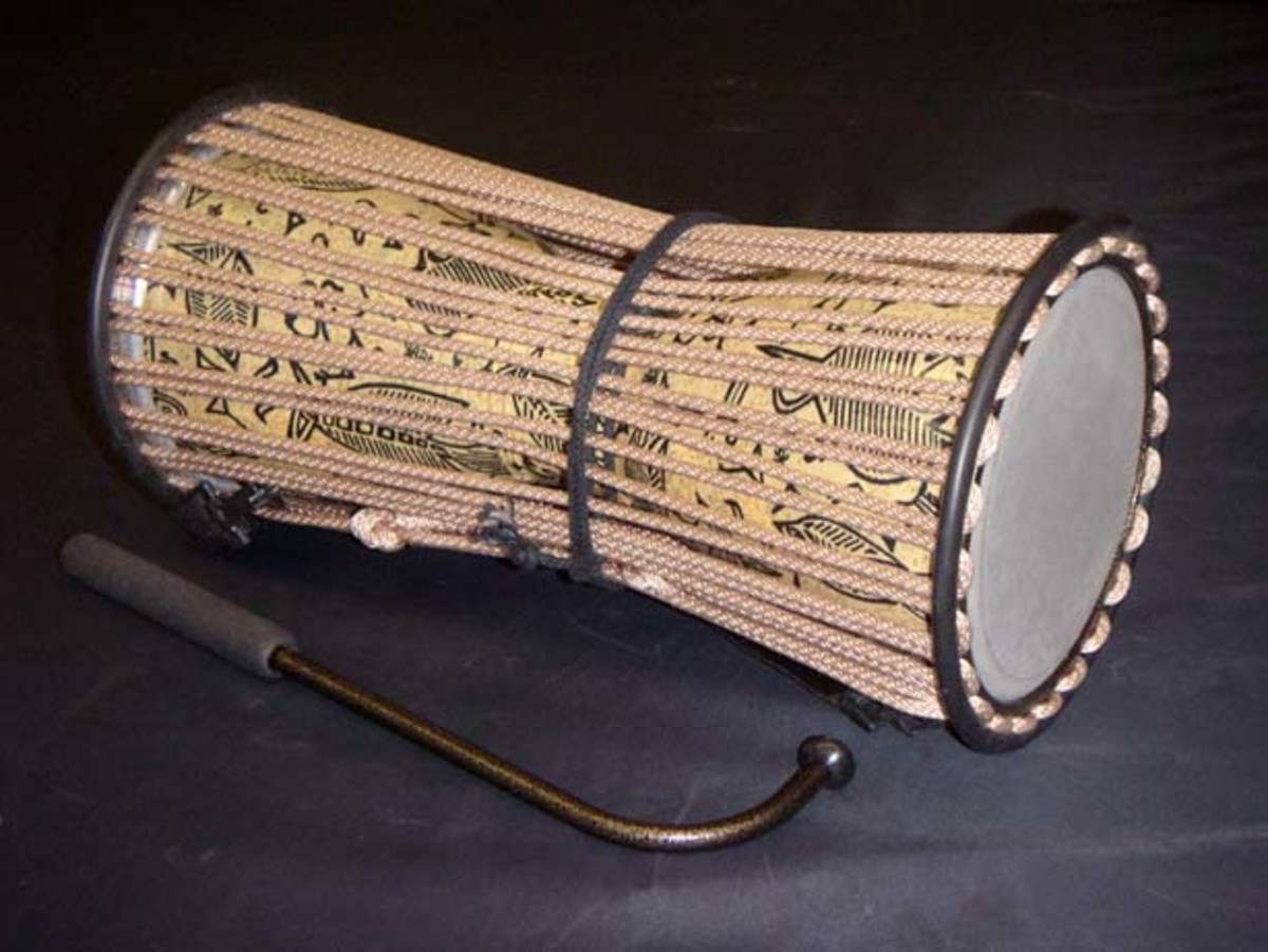 The Talking Drum: rums used in African traditional music include talking drums, bougarabou and djembe in West Africa, water drums in Central and West Africa, and the different types of ngoma drums (or engoma) in Central and Southern Africa. Other per