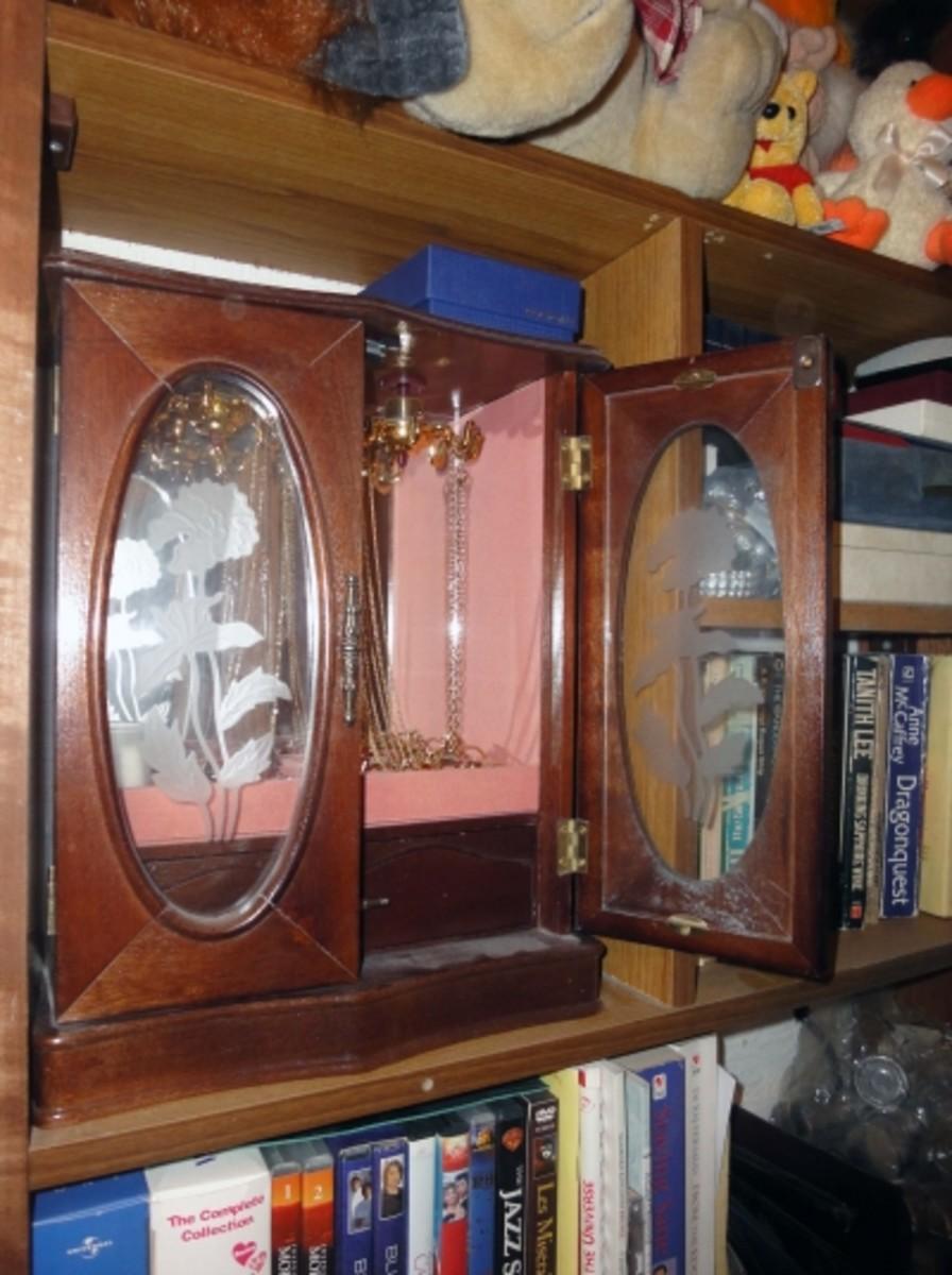 Jewellery Showcase in a Book Case