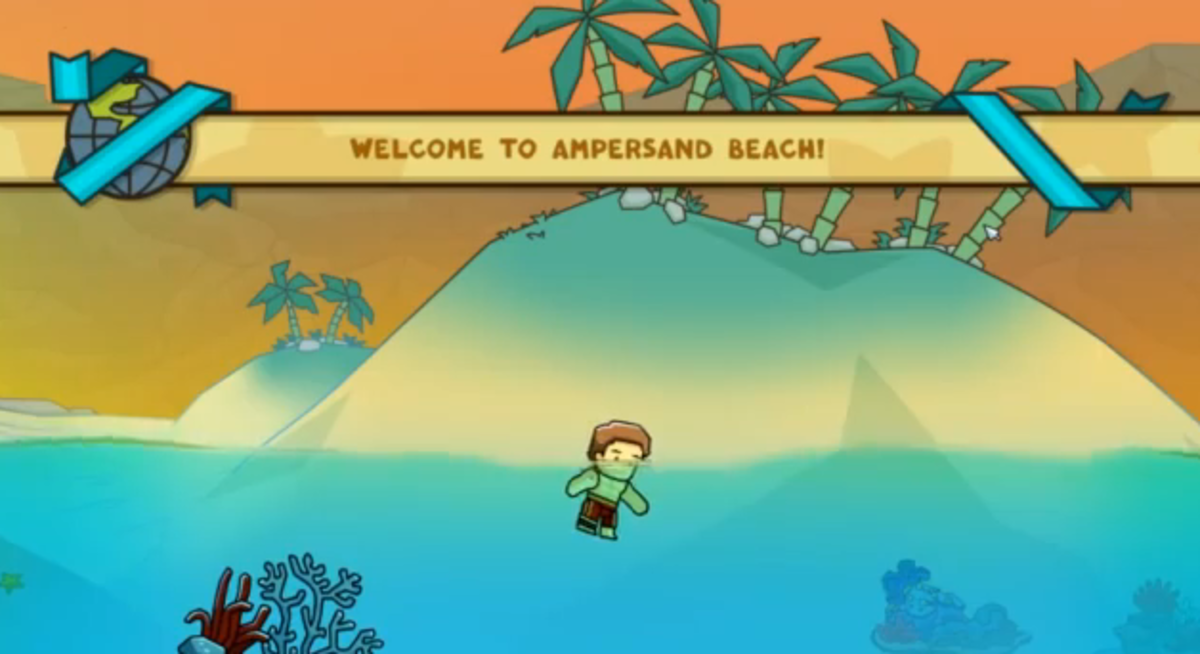 scribblenauts-unlimited-walkthrough-ampersand-beach-and-tilde-reef