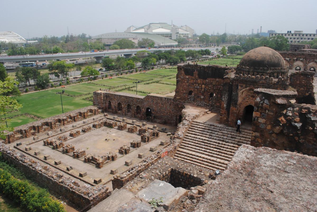 A View from top of Hawa Mahal, Firoz Shah Kotla