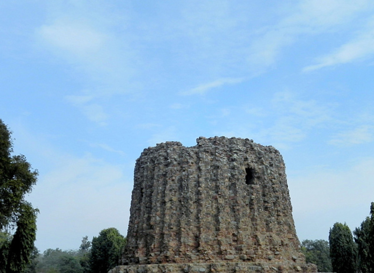 Alai Minar was laid by Alaudin Khilji who wanted it to be twice in size of Qutub Minar. The construction soon stopped after Khilji's Death