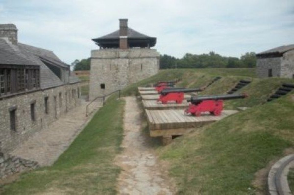 A View of the Fort's Cannons