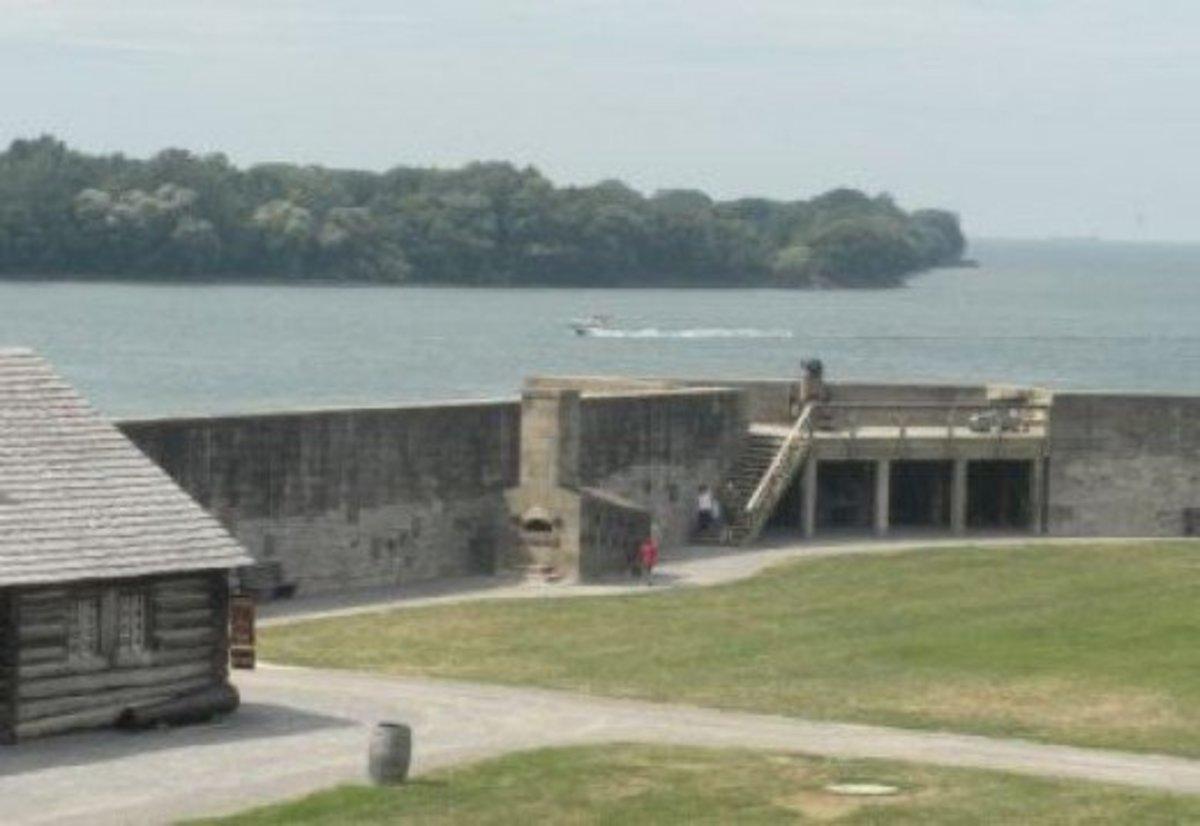 A View of the Niagara River Where it Meets Lake Ontario