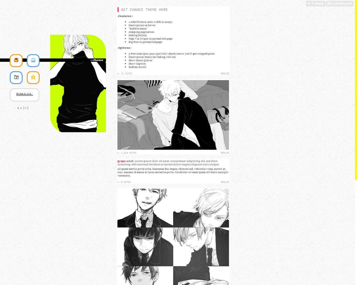 Many Tumblr users make their own themes and share them with other users.
