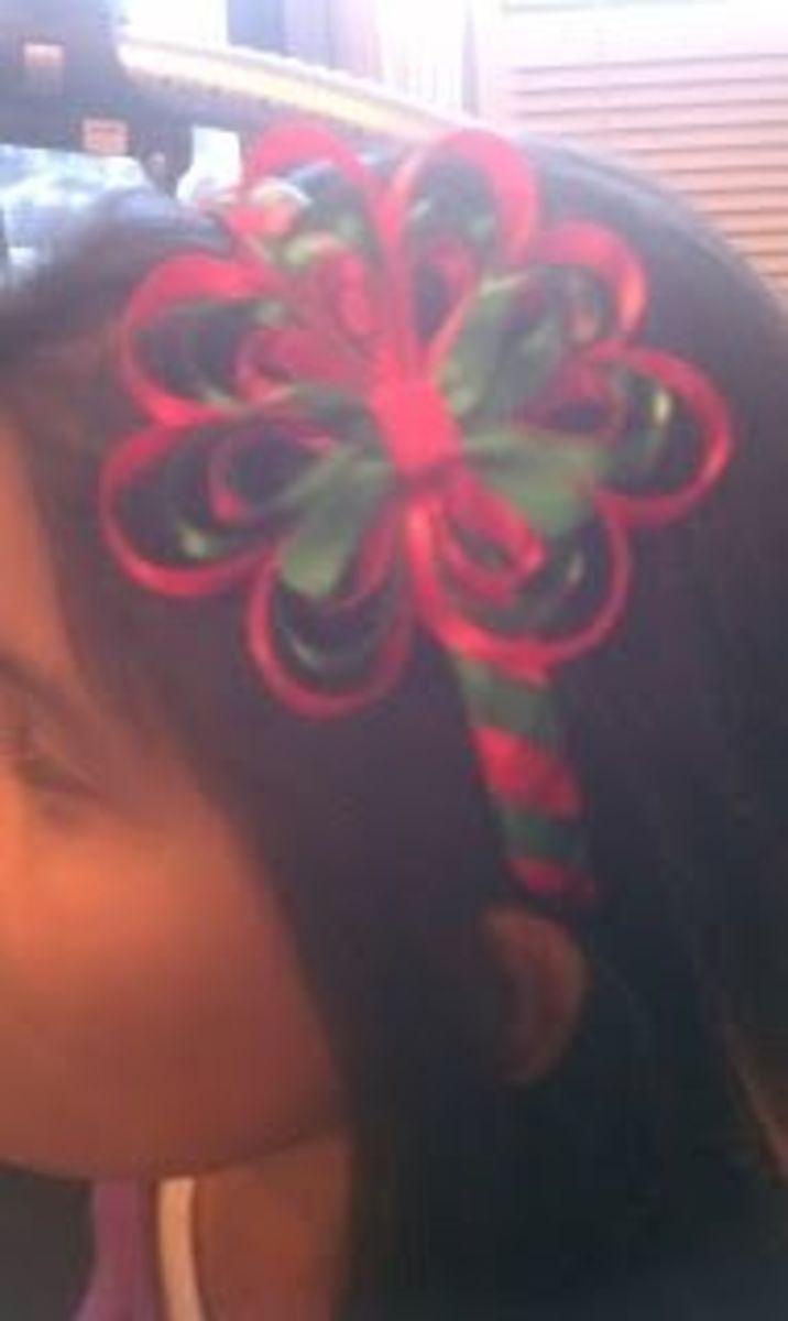 Christmas Woven Headband with Bow.