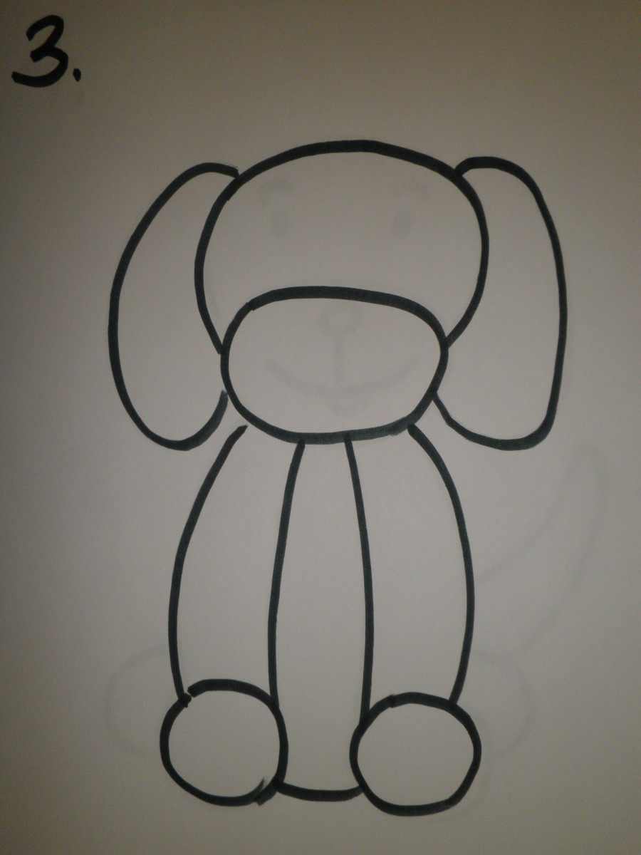 how-to-draw-a-simple-dog-with-oil-pastels