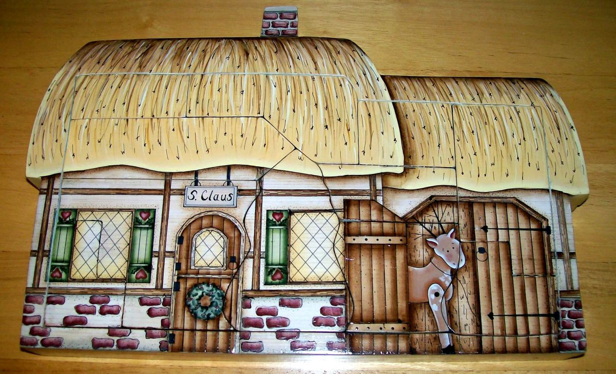 Christmas holiday puzzle painted by Patty Sypek/design by Kathi Walters