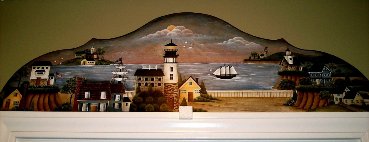 Door or window topper painted by Patty Sypek/design by Betty Caithness