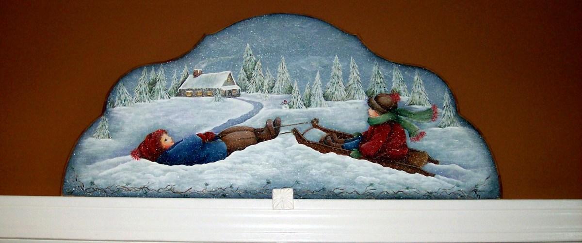 Door or window topper painted by Patty Sypek/design by Helan Barrick