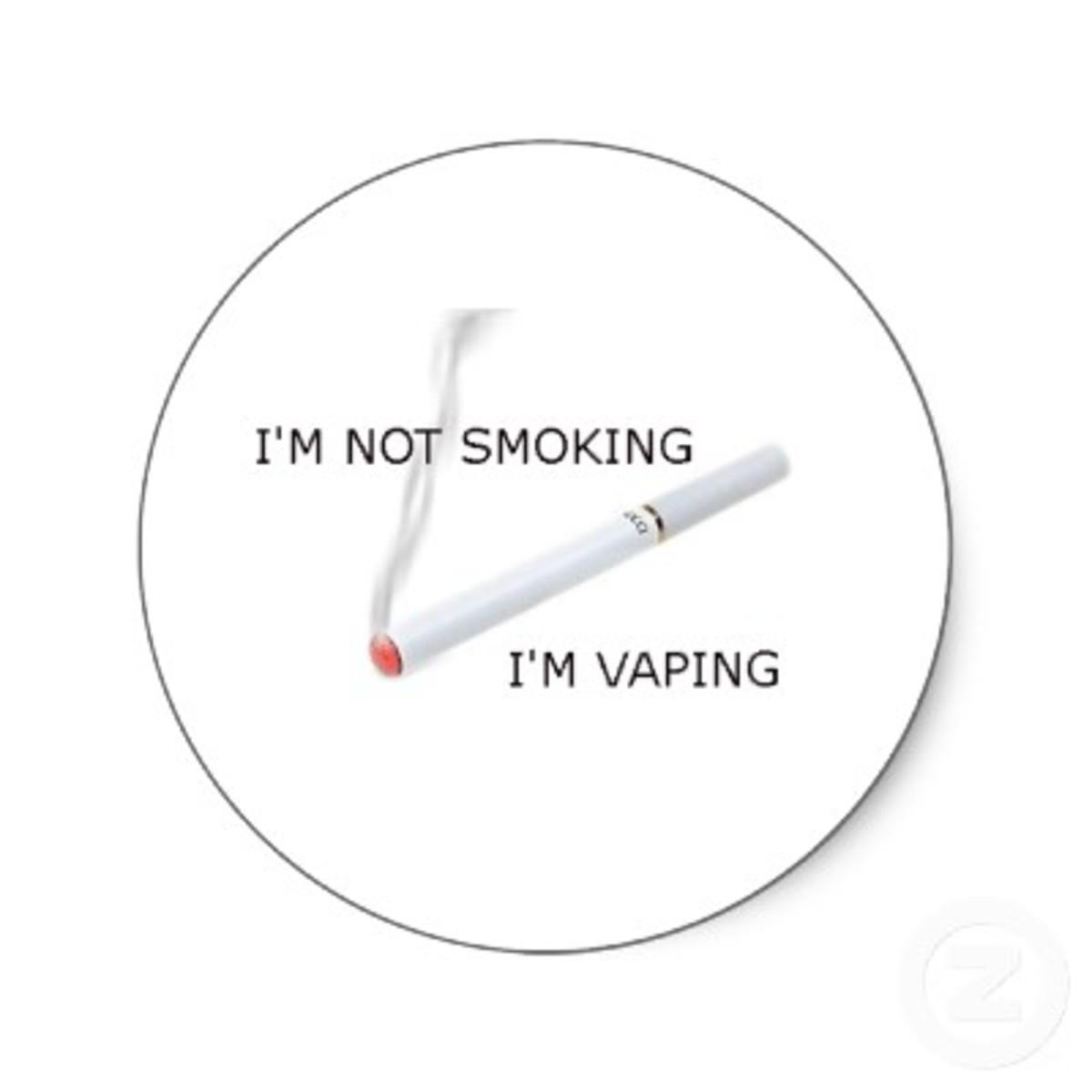 Smoking vs. vaping...
