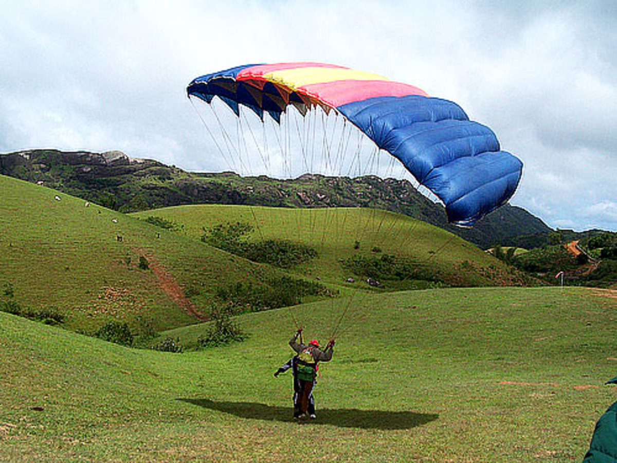 paragliding at vagamon