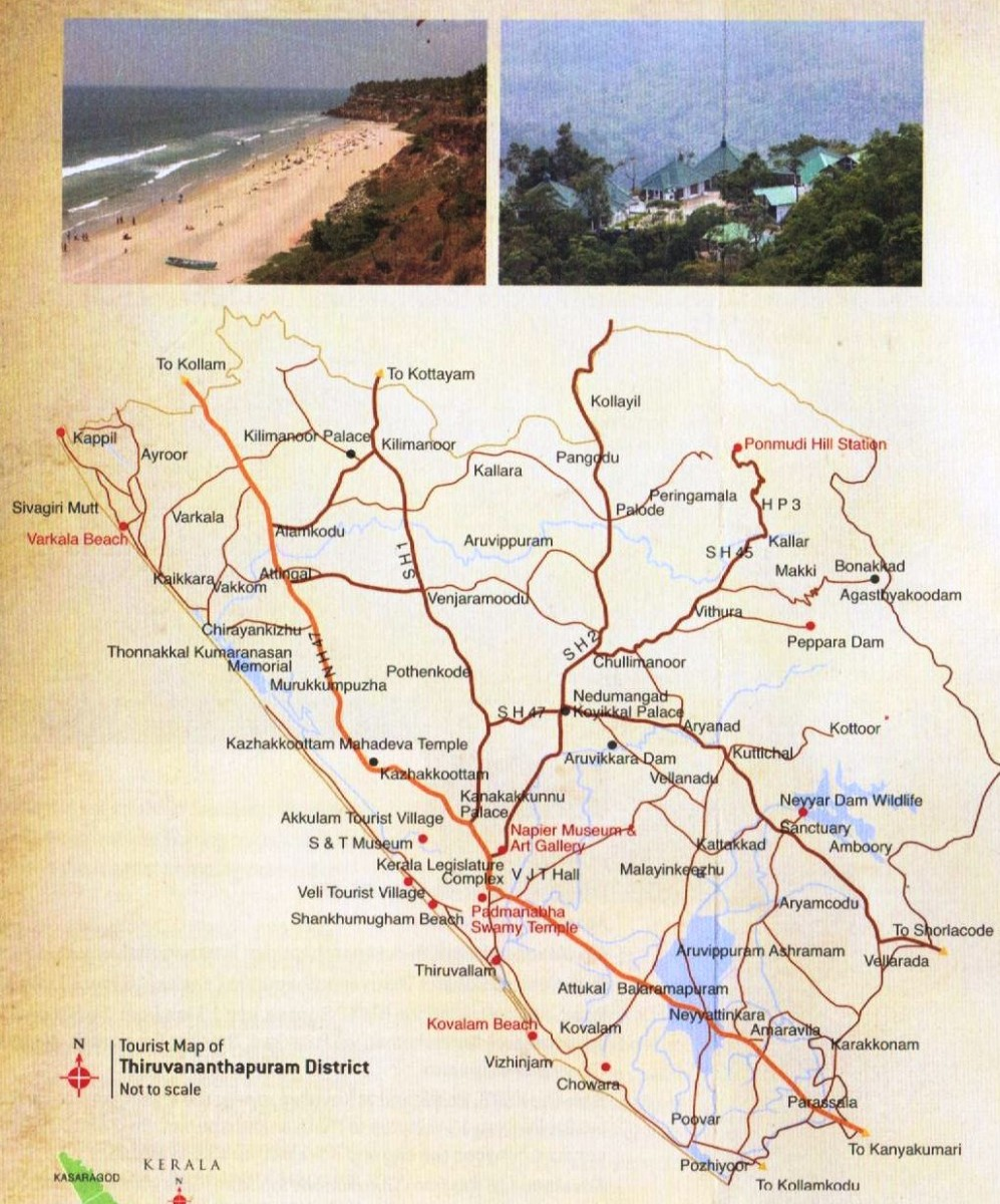 Trivandrum Tourist Map