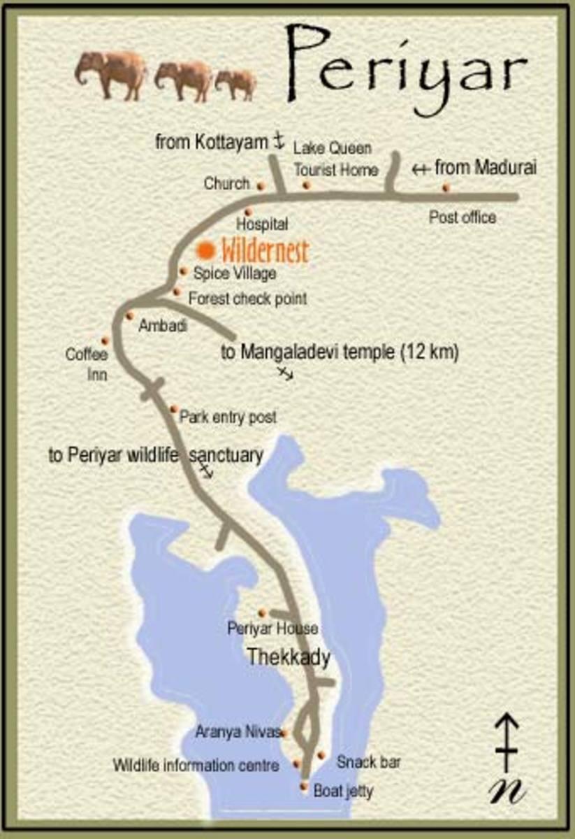 map of periyar