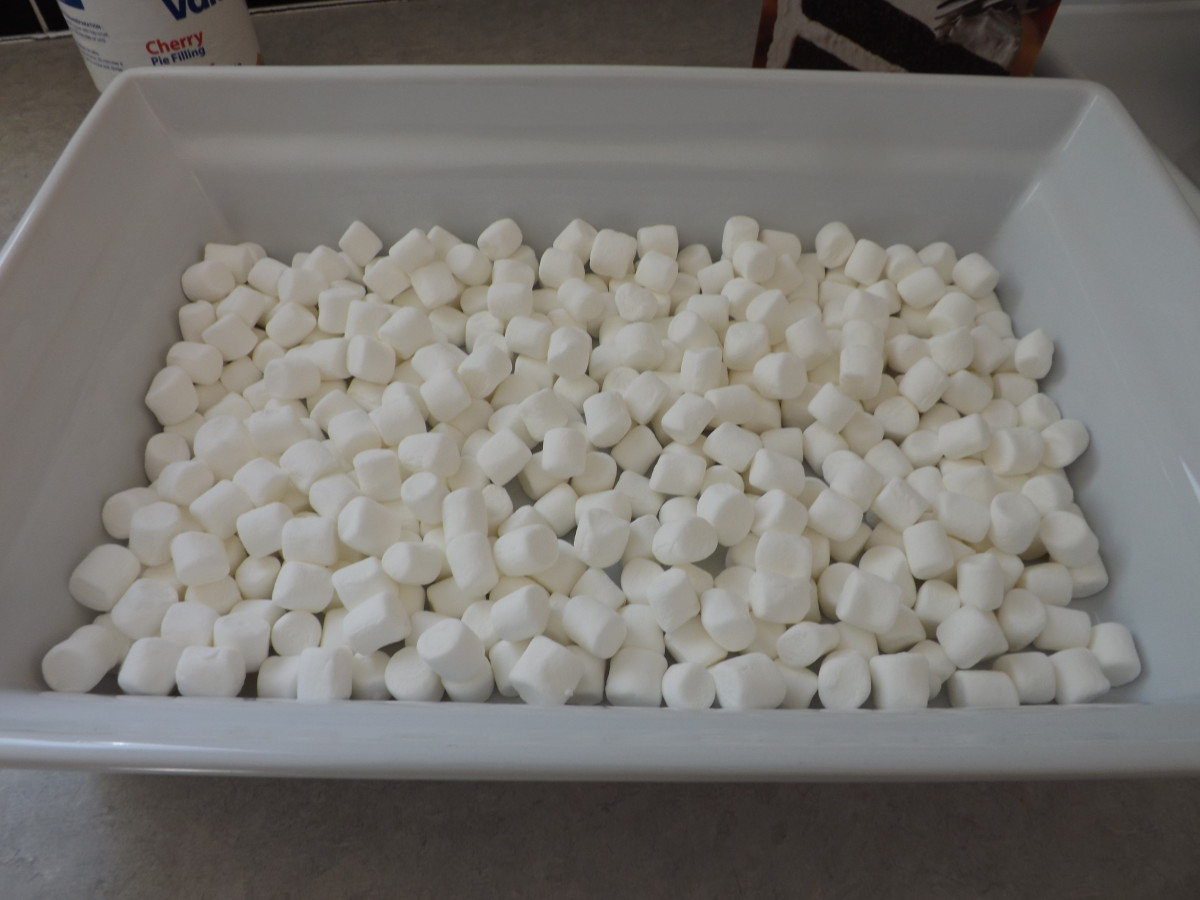 Cover Bottom of Pan with Marshmallows