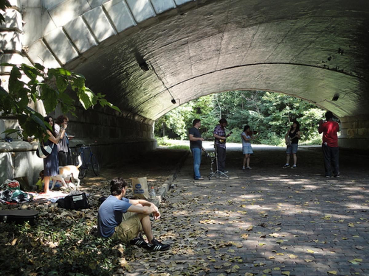 IUKA FEST in the Iuka Ravine under the bridge across Indianola Avenue.