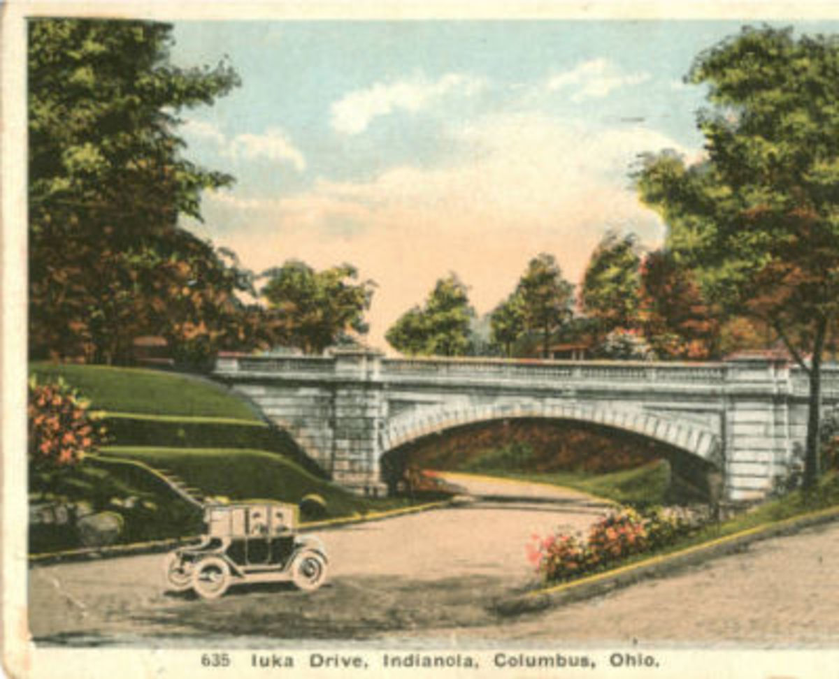 A bridge over Iuka Avenue on Indianola Avenue.
