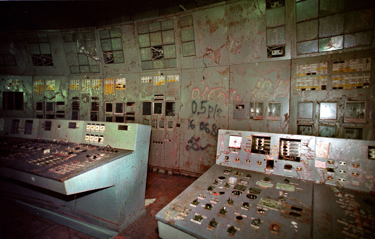 Control room for reactor 4