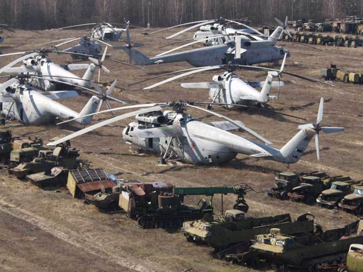 More radioactive vehicles and helicopters