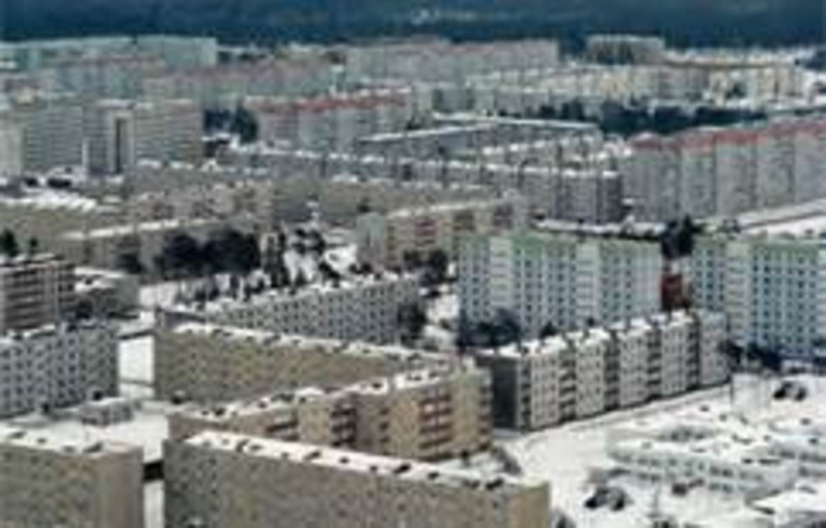 Another view of abandoned Pripyat