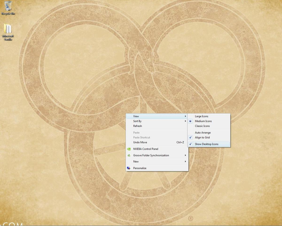 Hiding the desktop icons is easy to and easy to fix afterward - a harmless prank!