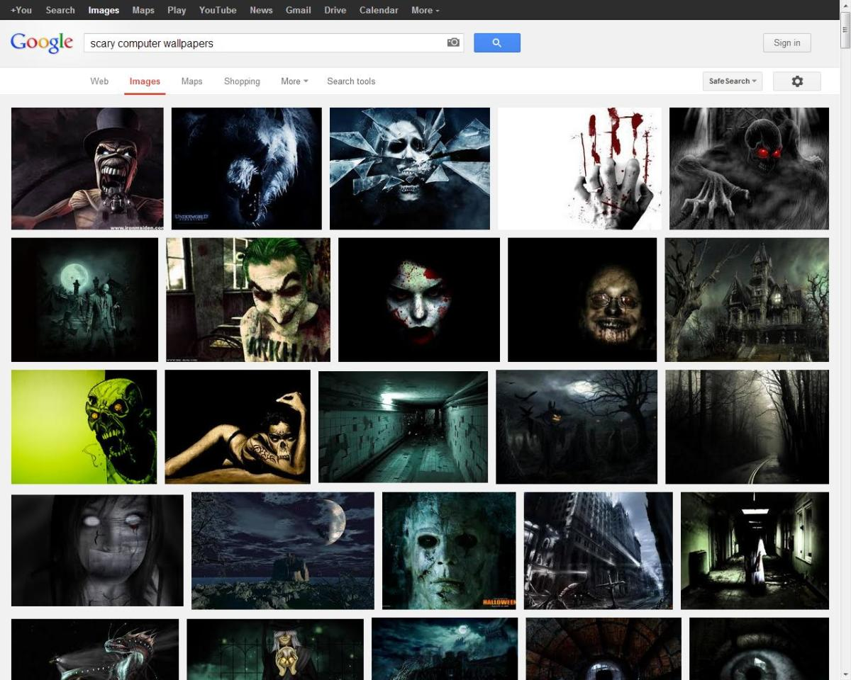 Searching for scary computer wallpapers online is quick and easy to do!