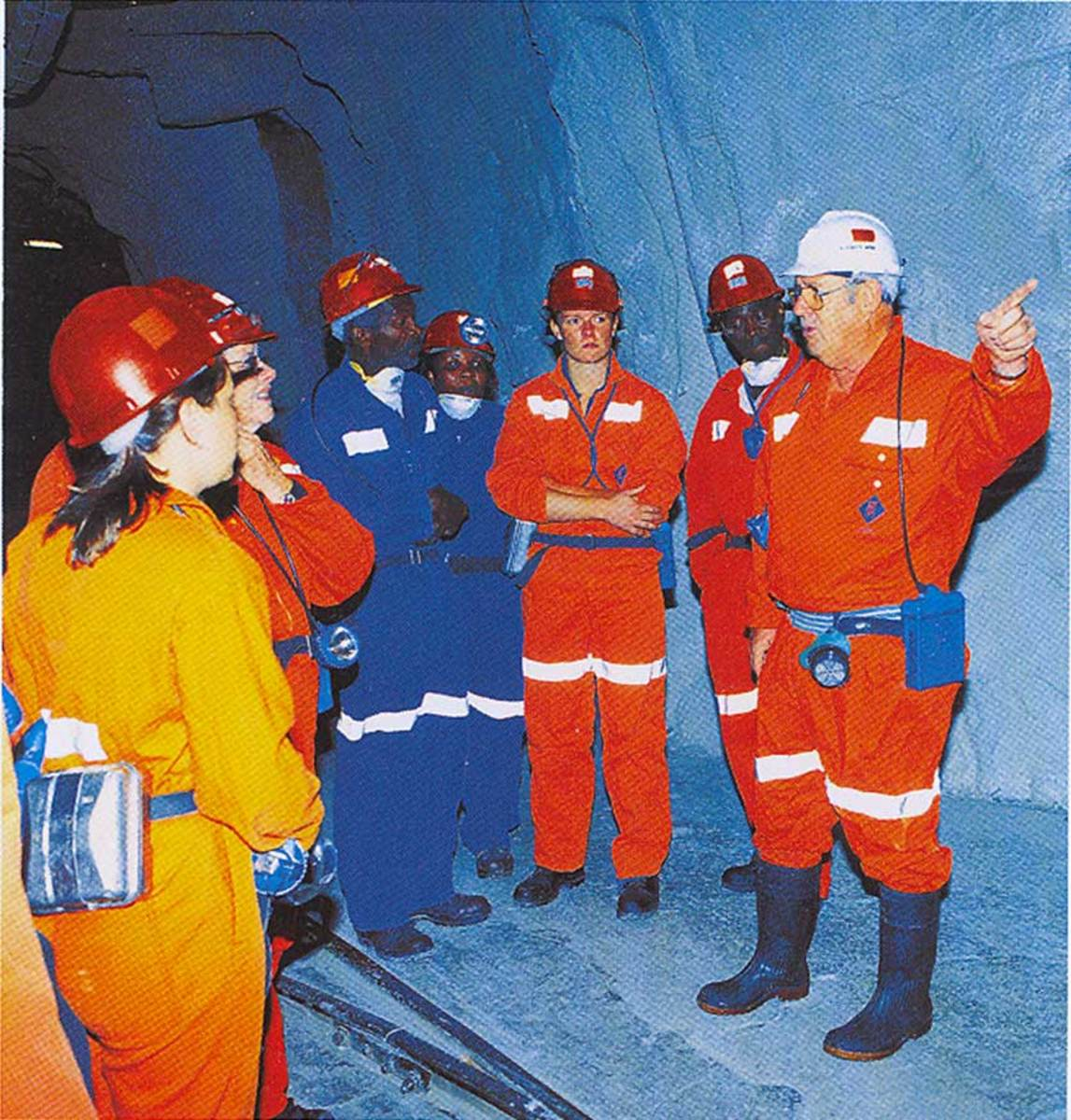 A tour conducted by a mine staff member