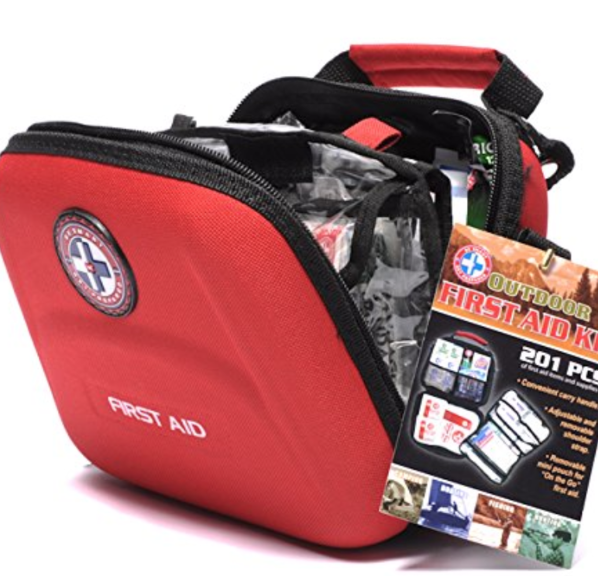 You can see this 201 piece Outdoor Safety Kit by clicking the link in the text to the left.