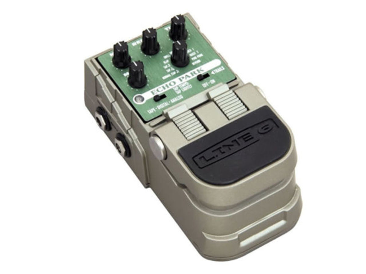 The Line 6 Tone Core Echo Park delay pedal provides players with great-sounding models of digital, analog, and tape echo units.