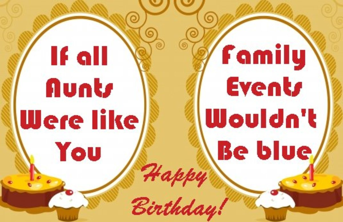 Happy Birthday Wishes For An Aunt Messages And Poems For An Aunt S Birthday Card Hubpages