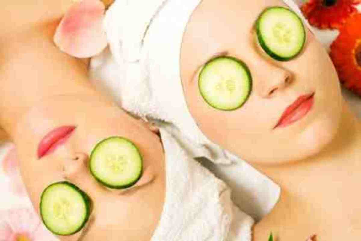 relaxing cucumber eye pads!