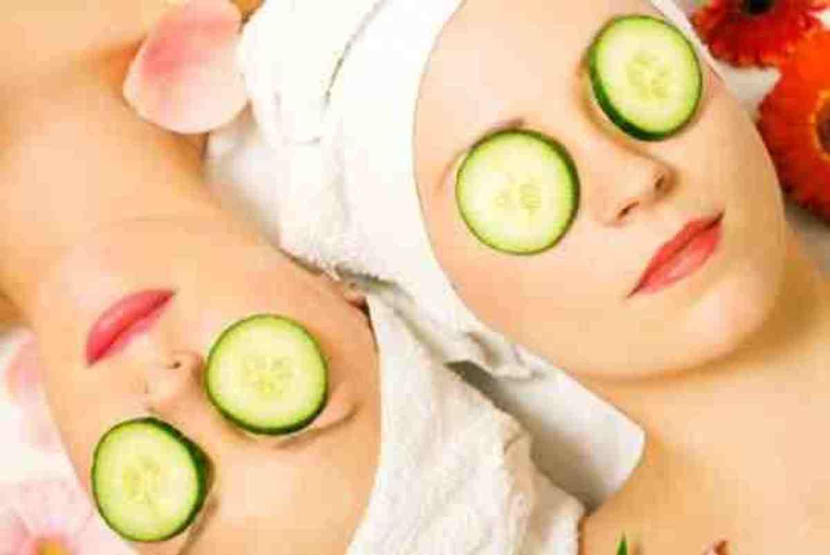 relaxing cucumber eye pads!