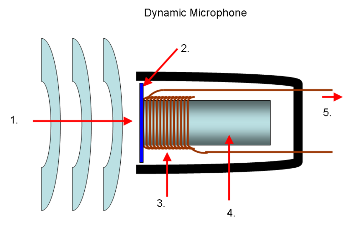 Diagram of a Dynamic Microphone.