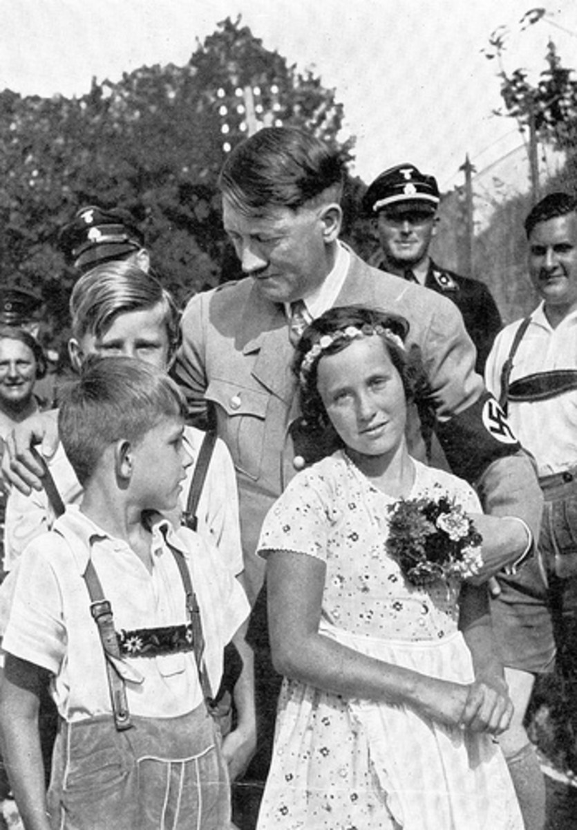 Adolph Hitler with German Youth.