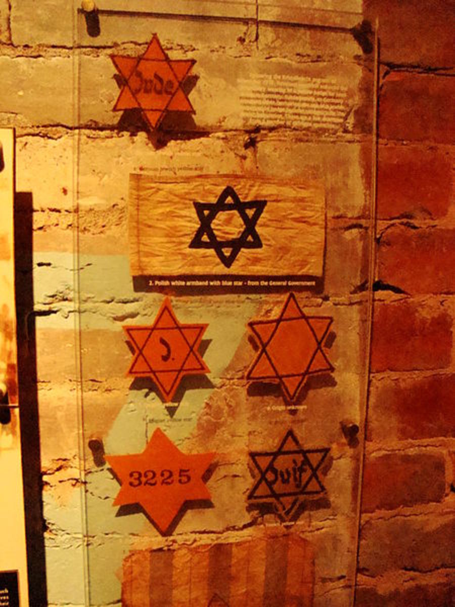 Stars of David from concentration camps