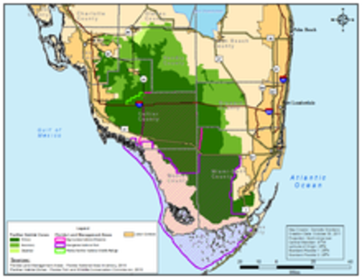 Southern Florida Panther Habitat Locations
