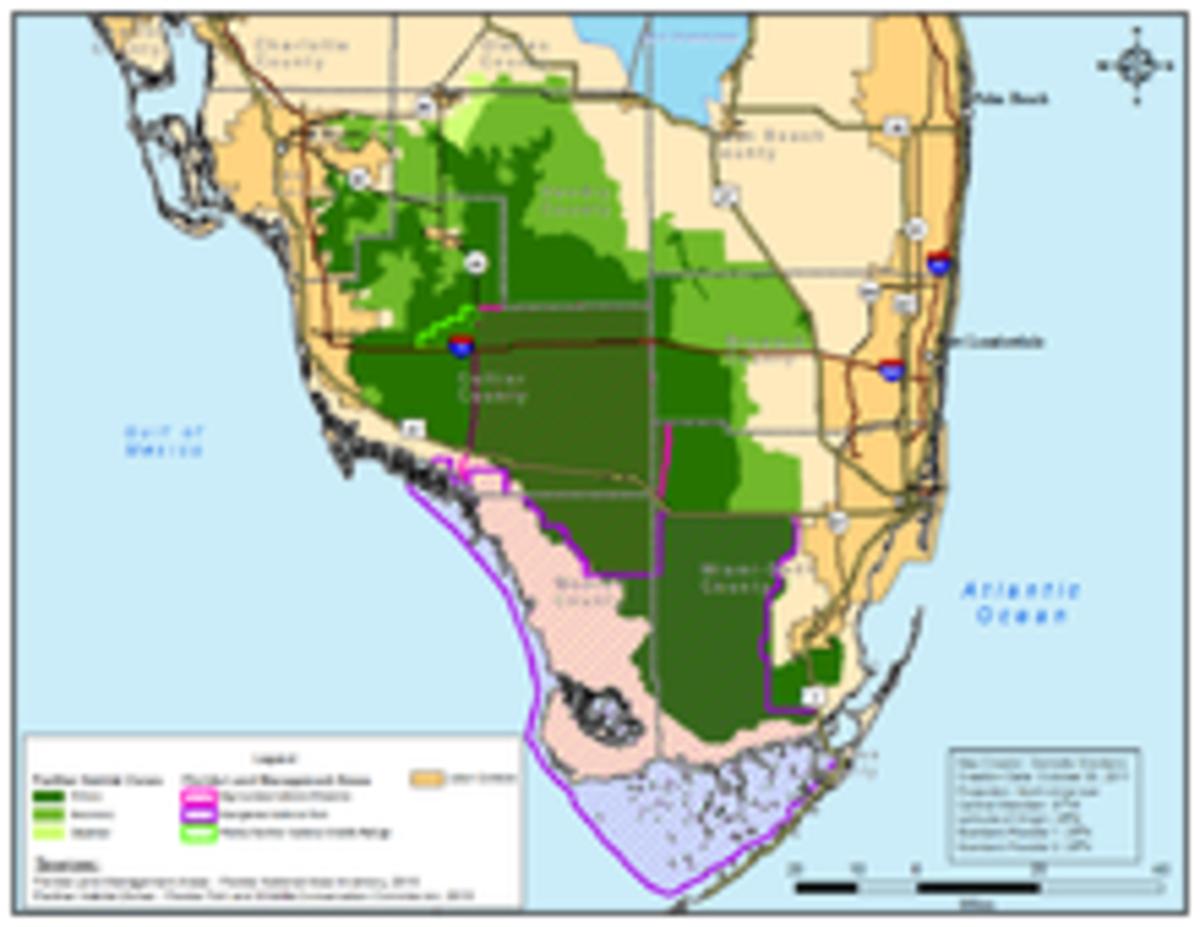 Southern Florida Panther Habitat Locations