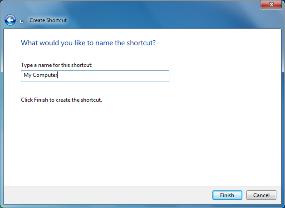 """Choose a name like """"My Computer"""", """"My Documents"""" or """"My Network Places"""" as an icon name. Something that sounds official and likely that a person will click on."""
