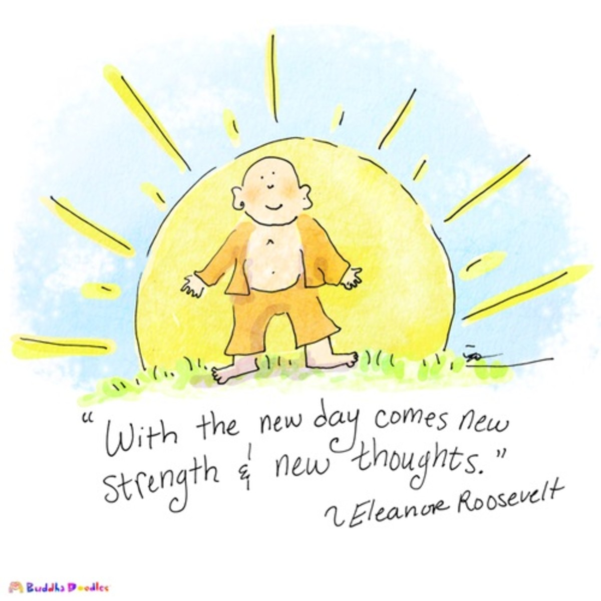 Buddha Doodle - 'New Day' by Molly Hahn