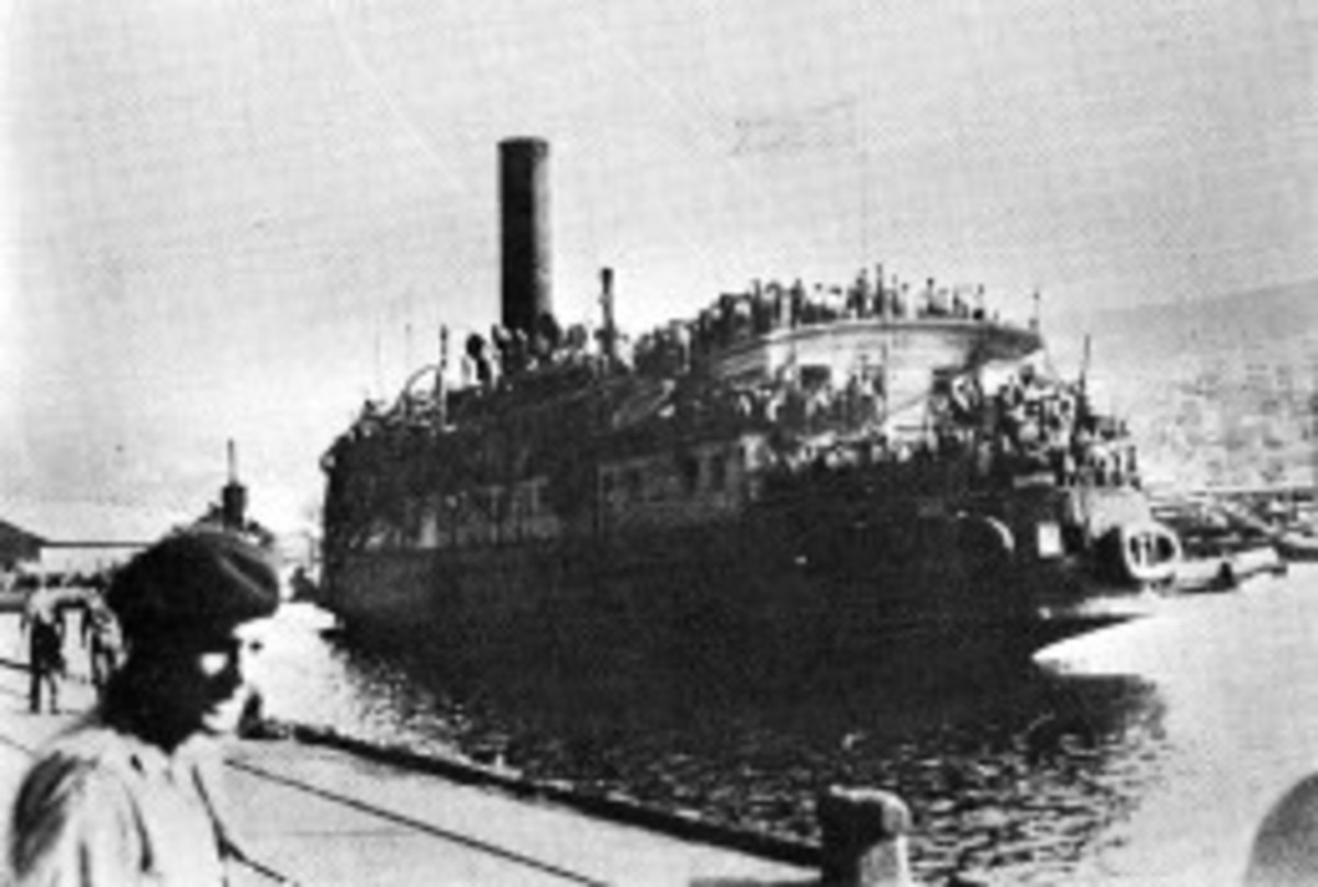 The Exodus Arriving in Haifa Port in 1947