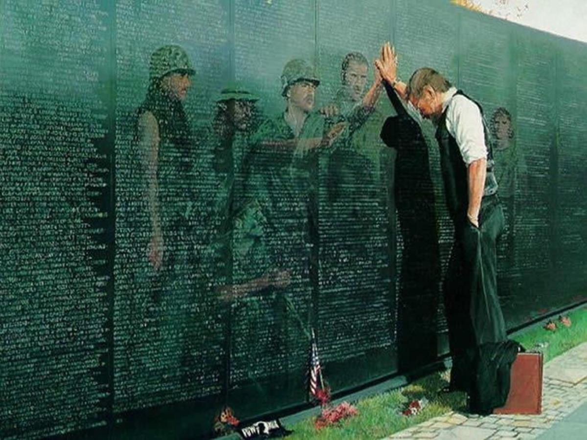The U.S. Vietnam War Memorial Commemorating the Loss of 58,152 Souls in the War