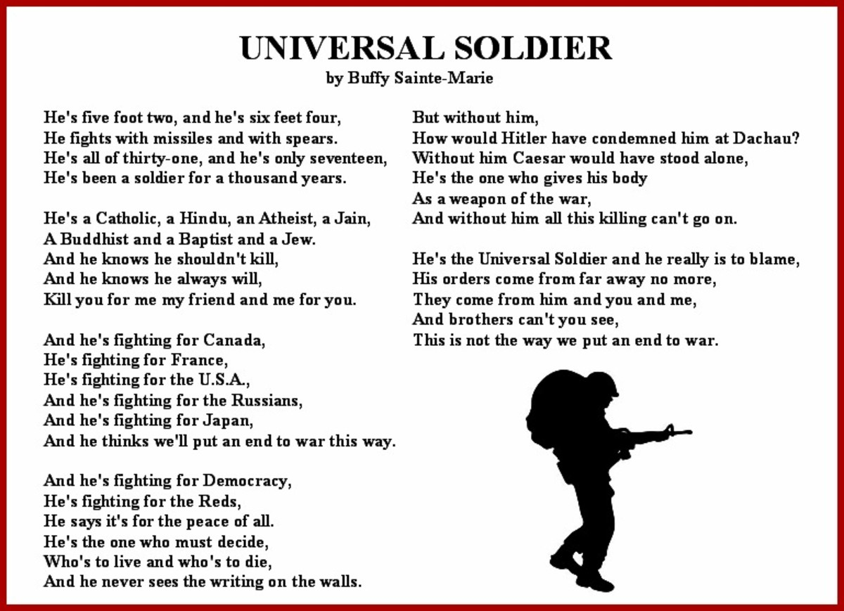 'Universal Soldier' Vietnam War Song Lyrics