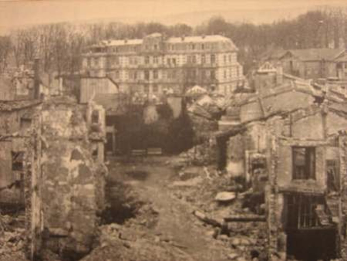 Verdun destroyed in World War I