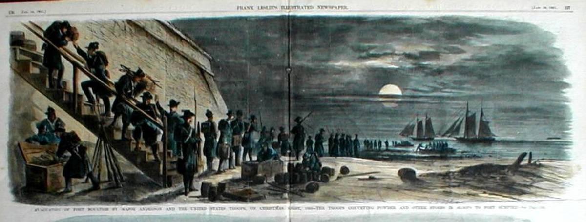 Fort Sumter in Charleston Harbor, South Carolina, during the U.S. Civil War
