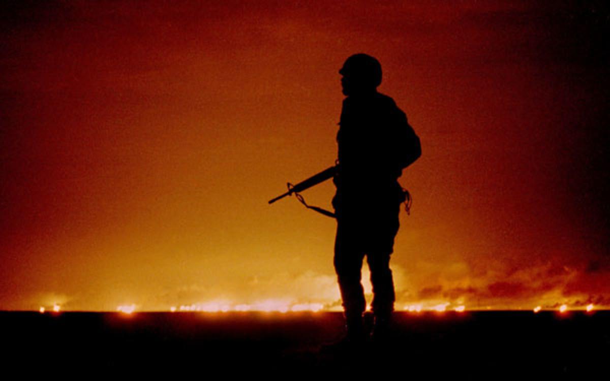 Kuwait on Fire During the First Gulf War