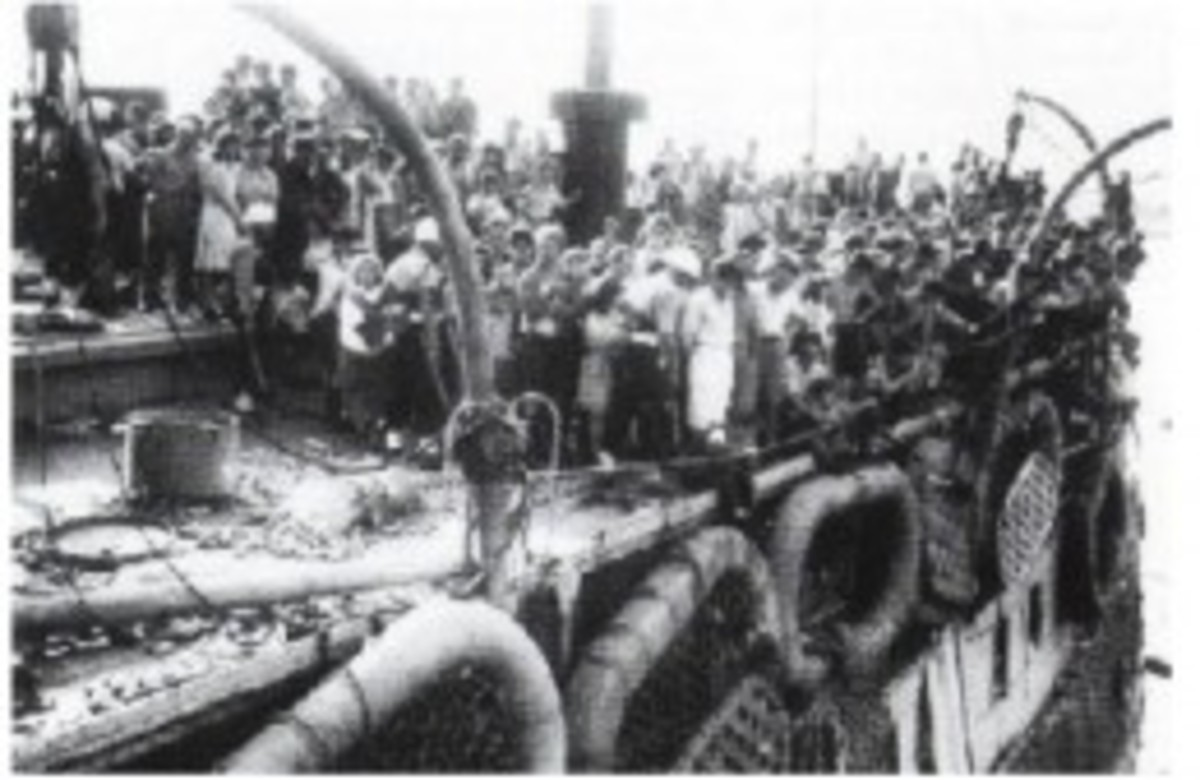 The Exodus Ship with its 4,515 passengers (1,672 of whom were children) was sent back to the DP camps of Germany.