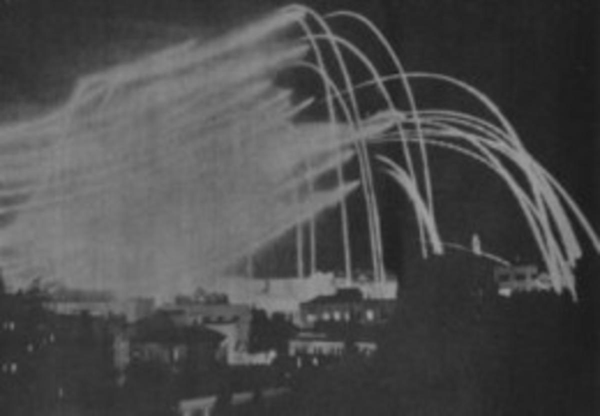 Jordanian Artillery Fire over Jerusalem, 1948