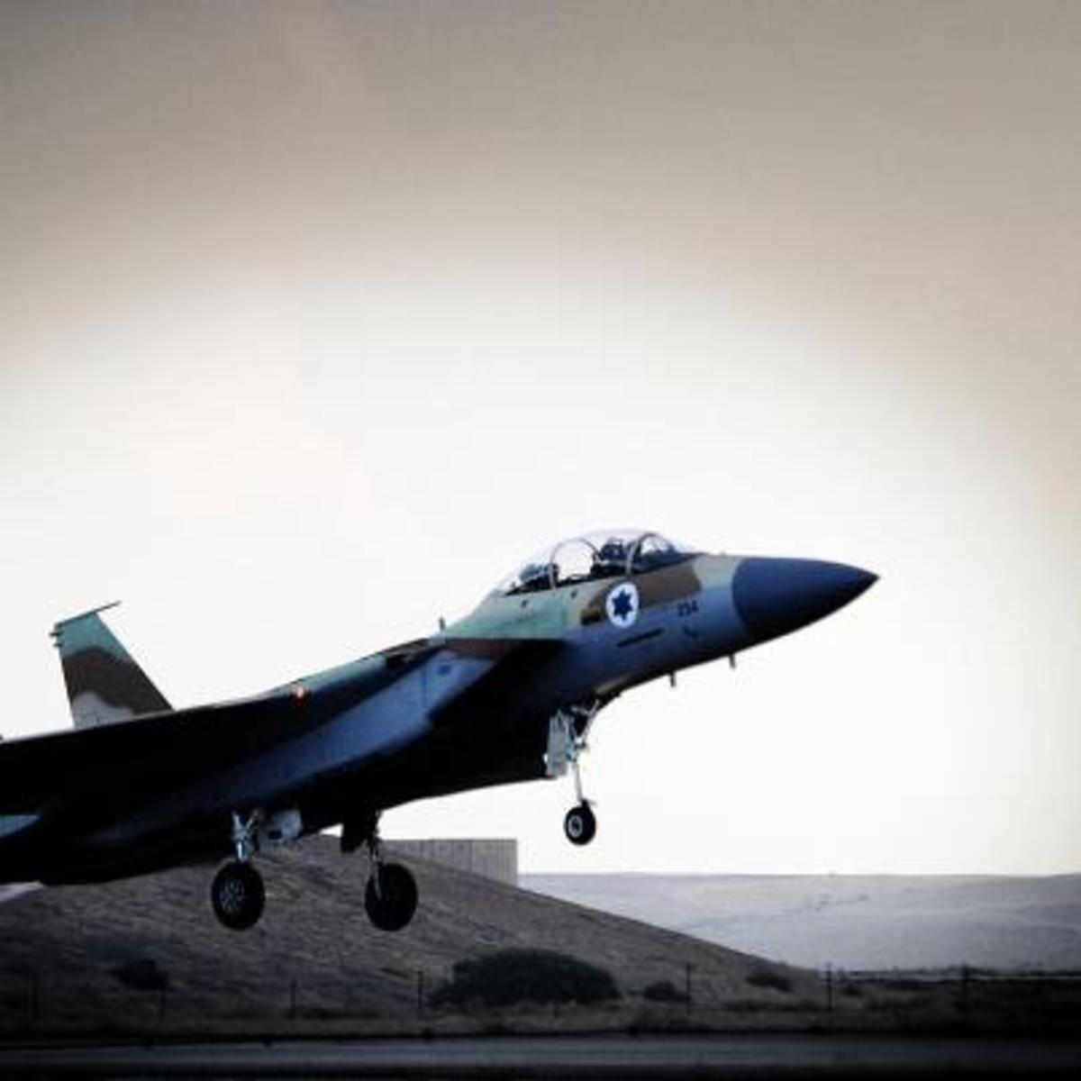 Israel Jet Surveillance Flight Takeoff