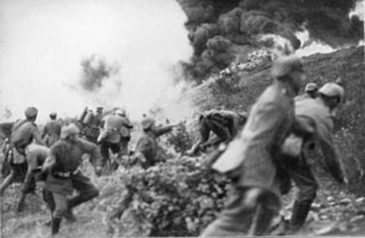 Fighting in France in World War 1
