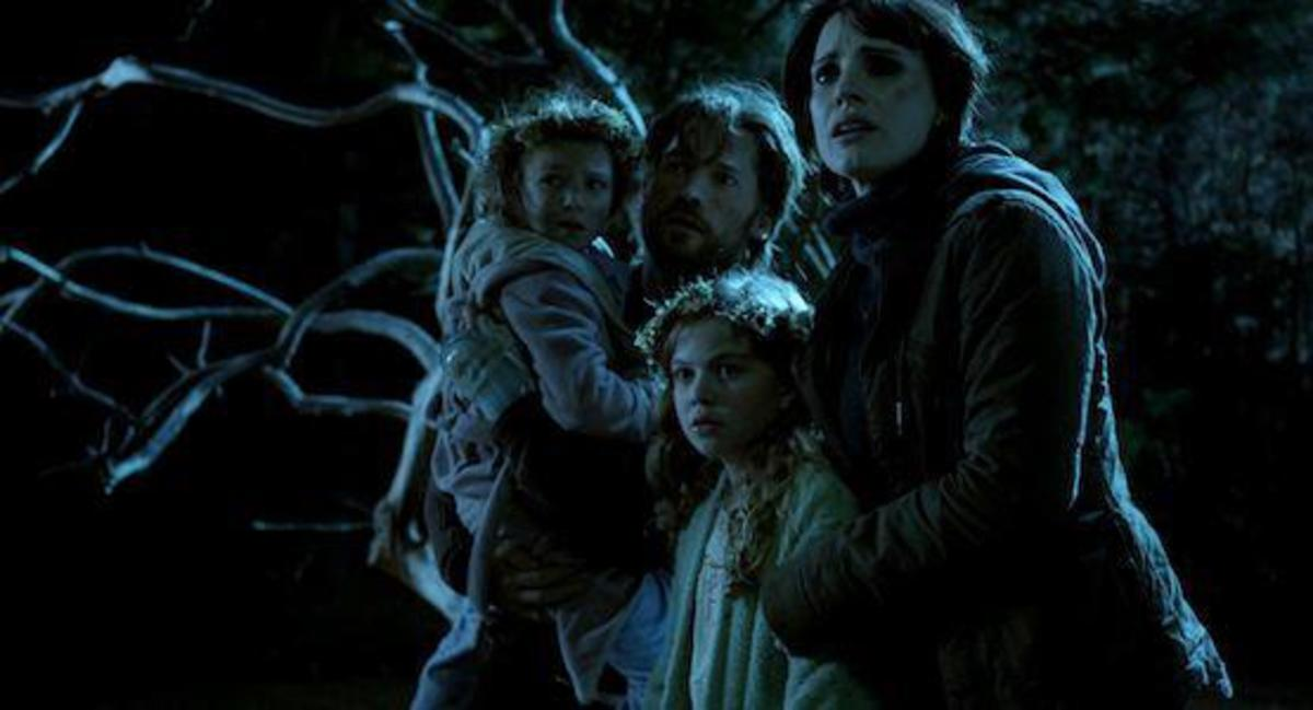 Mama leads the entire family into the woods